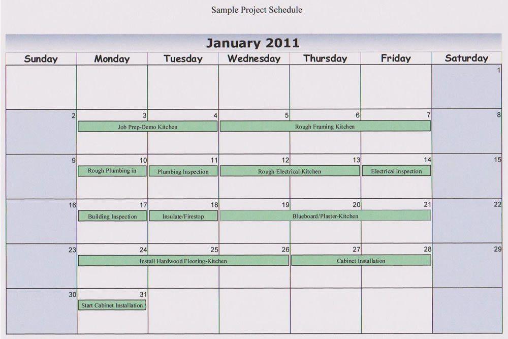 Design Schedule Sample images