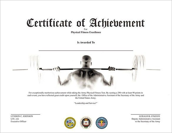 29+ Fabulous Achievement Certificate Templates & Designs | Free ...