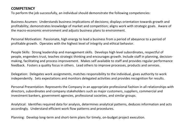 President Job Description. Presidential Job Description 3 Ghn ...