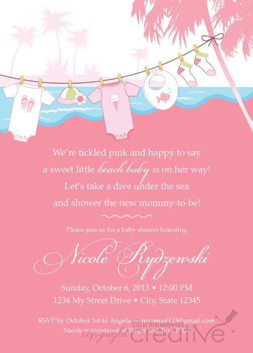 DIY Baby Shower Invitation - Beach Baby Template | Baby showers ...