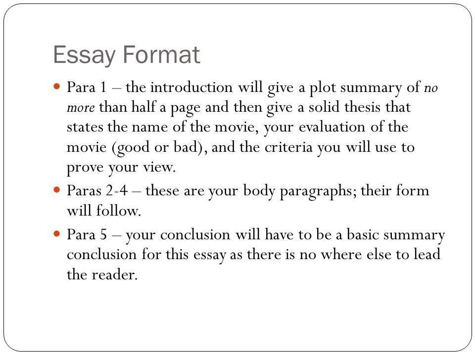 Evaluation Essay. - ppt download