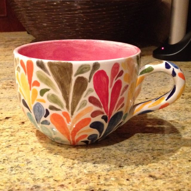 1000 images about pottery painting ideas on pinterest for Mug painting designs
