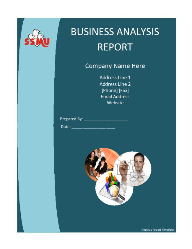 Qualified Business Analysis Report Template Design Example with ...