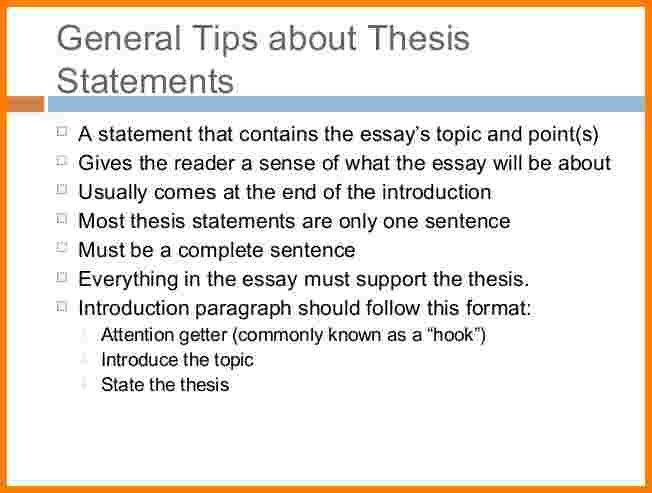 6+ thesis statement example for argumentative essay | Case ...