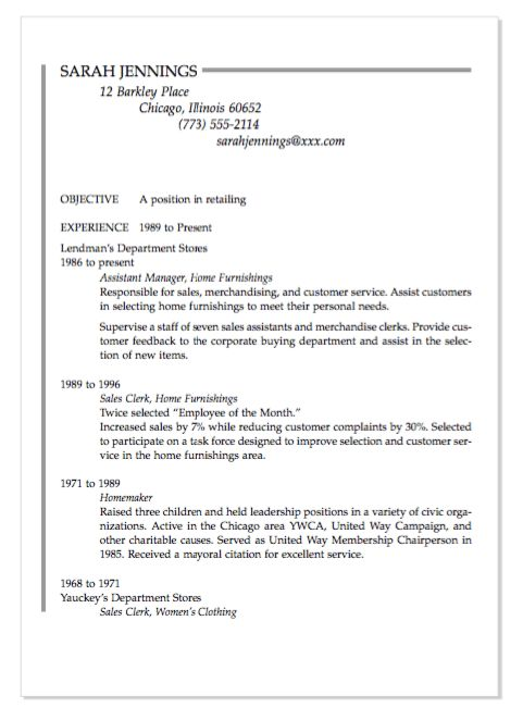 Housewife Resume Examples Healthy Eating Expository Essay Best Home