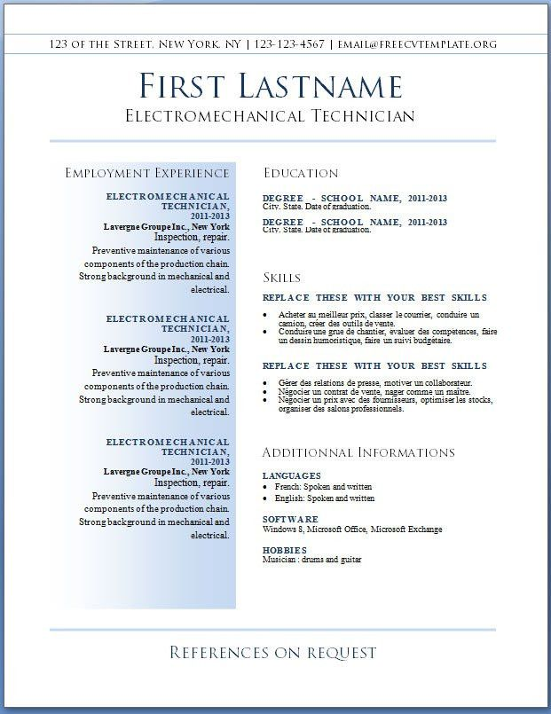 Download Best Resume Template Word | haadyaooverbayresort.com