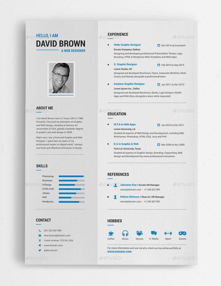 21 best Creative CV Templates [Download] images on Pinterest | Cv ...