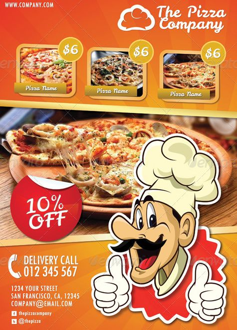 20 Best Pizza Restaurant Flyer PSD Templates | Best Pizza ...