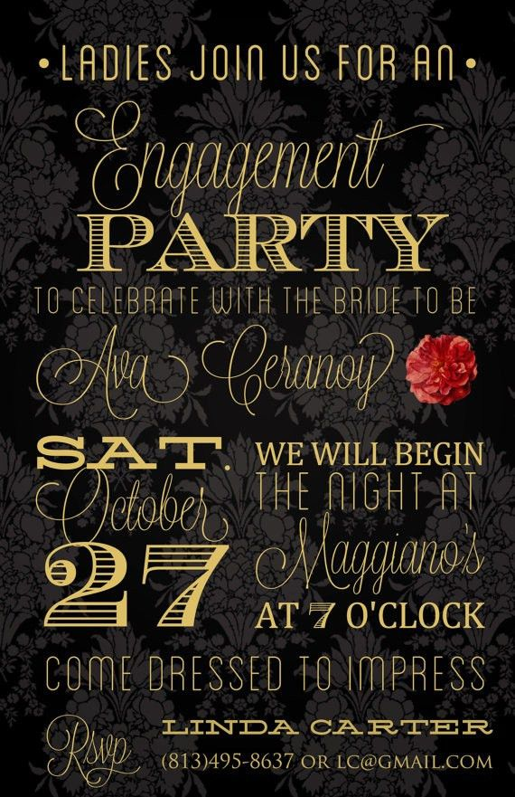 9 best engagement invitations images on Pinterest | Engagement ...