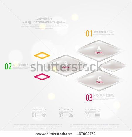 Modern Infographic Template Business Design Ribbons Stock Vector ...