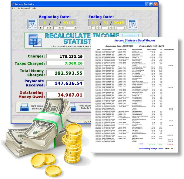 Lawn and Landscaping Accounting Software | Determine Profit