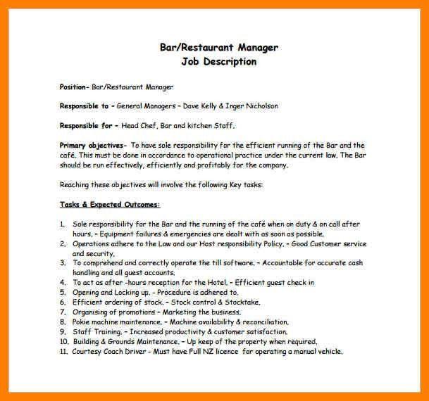 general managers job description