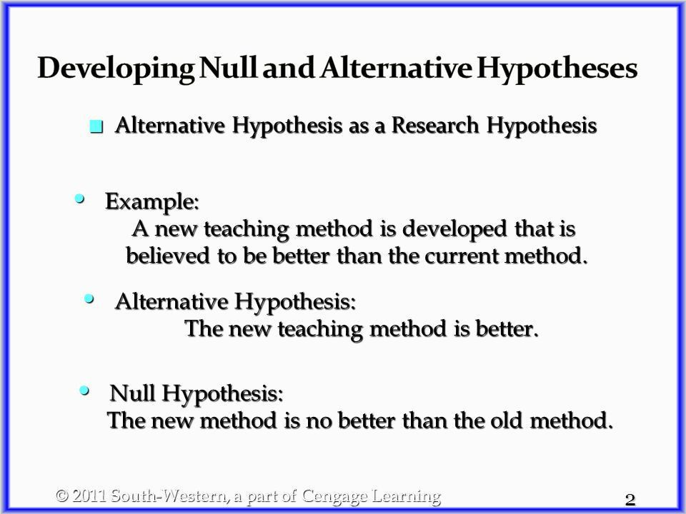 1 Hypothesis testing can be used to determine whether Hypothesis ...