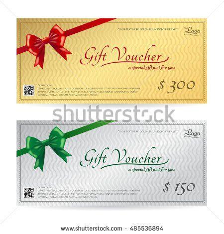 Elegant Gift Voucher Gift Card Coupon Stock Vector 609645884 ...
