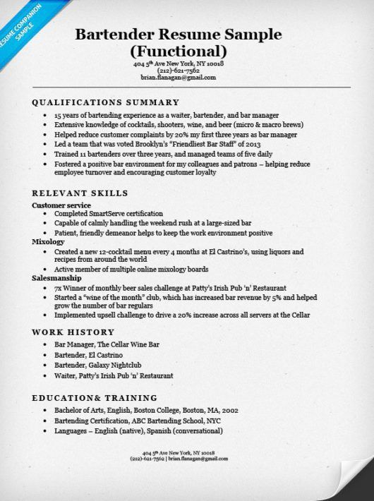 Examples Of Resumes For Restaurant Jobs. Restaurant Manager Cover ...