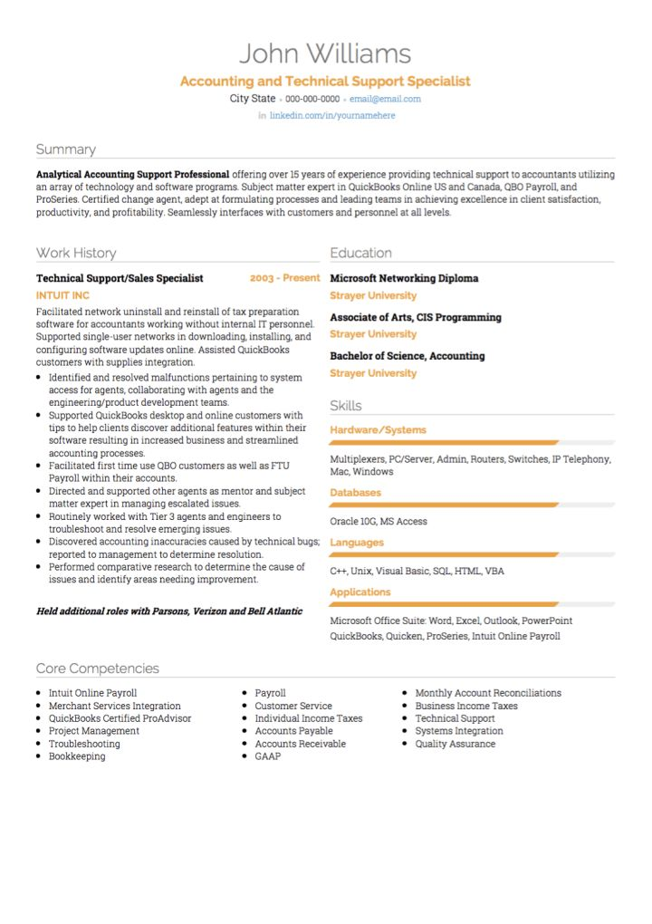 IT CV examples and template