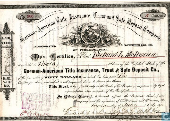 German-American Title Insurance, Trust and Safe Deposit Company ...