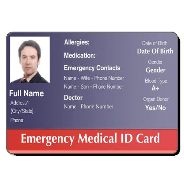 Medical ID Cards | Healthcare/Hospital Badge | Pinterest | Card ...