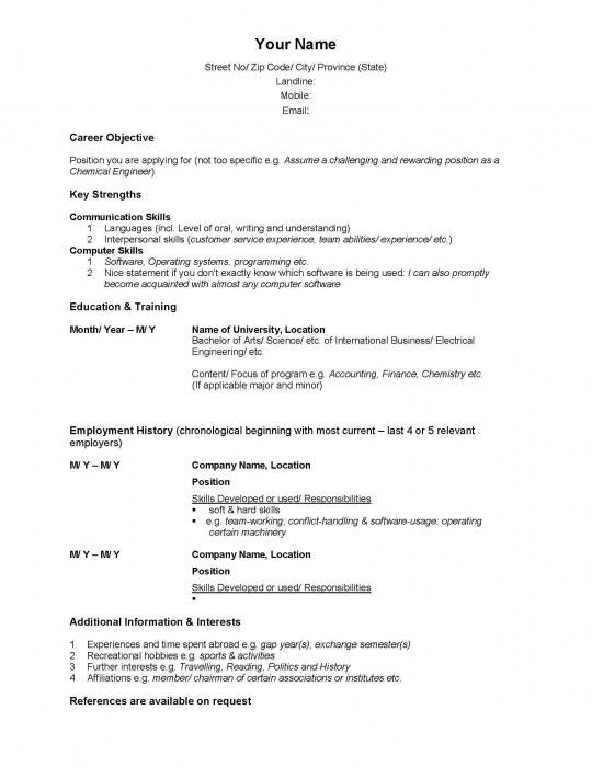 Resume Canada Example. the stylish sample resume in canada resume ...