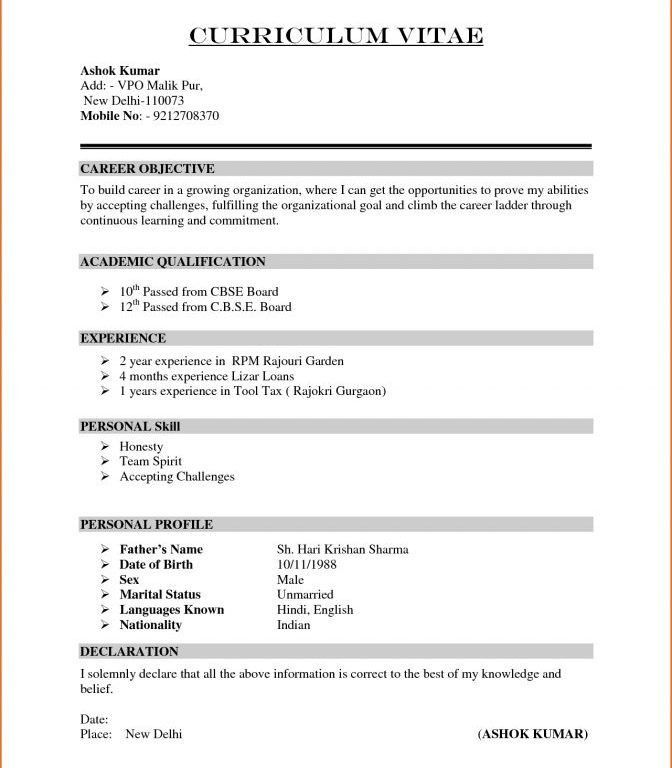 Awe-Inspiring How To Write A Basic Resume 13 How To Write A Basic ...