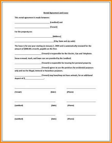 9+ simple lease agreement form | workout spreadsheet