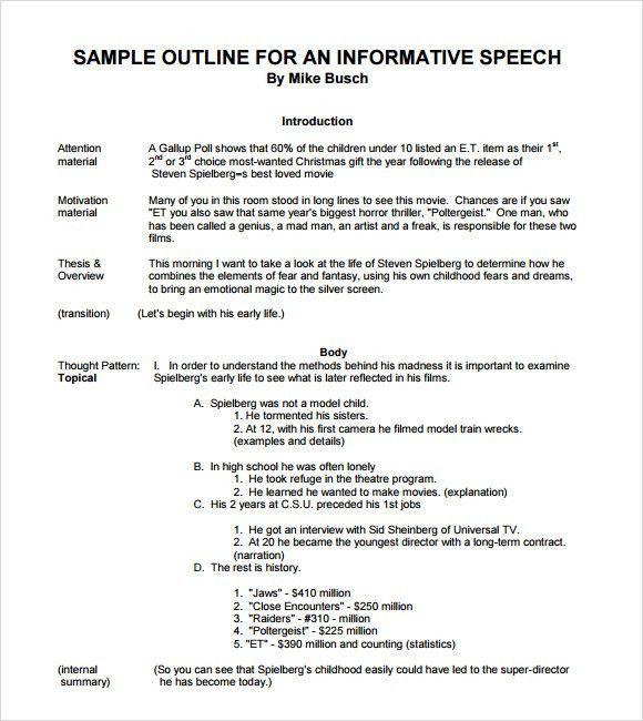 Sample Informative Speech - 11+ Documents in PDF, Word