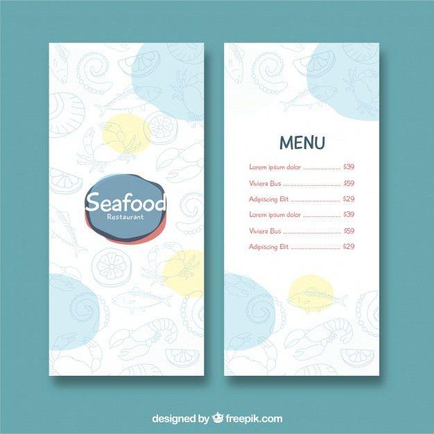 Seafood restaurant menu template Vector   Free Download