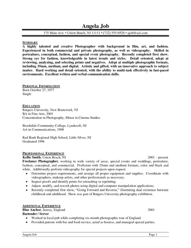 Cover Letter Example Beginner Photographer Cover Letter Cover ...