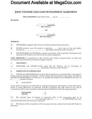 Canada Partnership and Joint Venture Forms | Legal Forms and ...