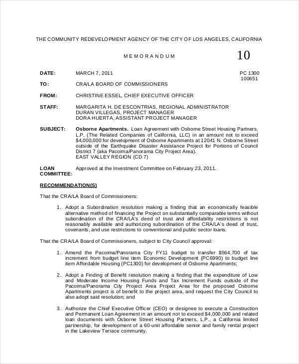 Executive Memo Template. 6+ Professional Memo | Reimbursement ...