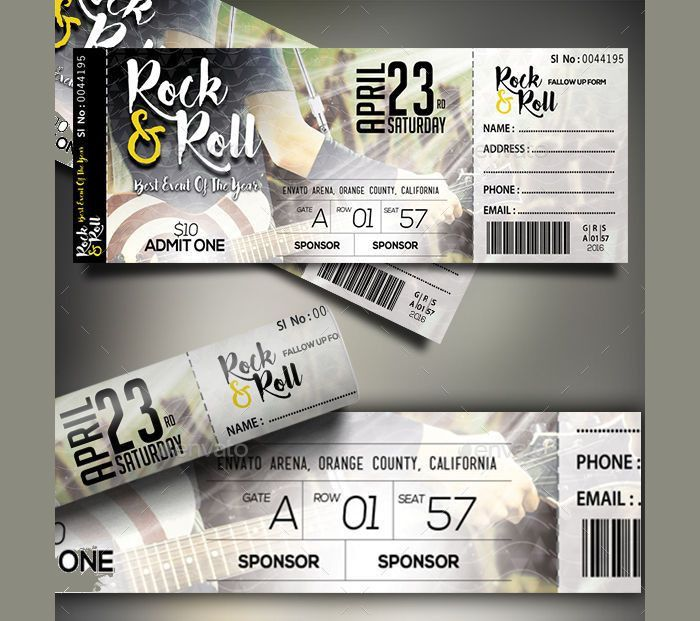 15+ Concert Ticket Templates | Design Trends - Premium PSD, Vector ...