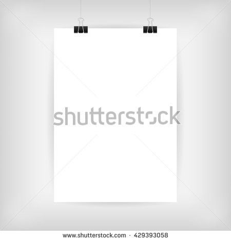 Blank Paper Poster Template Blank Page Stock Vector 429392878 ...