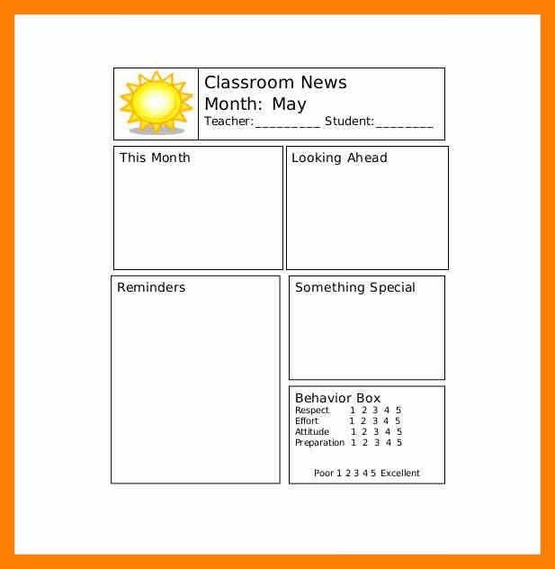 Teacher Newsletter Template. Weekly Teacher Newsletter Template ...