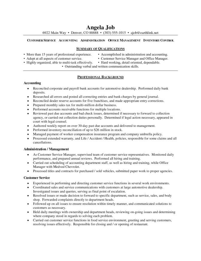 Example Of A Customer Service Resume. Resume Format Customer ...