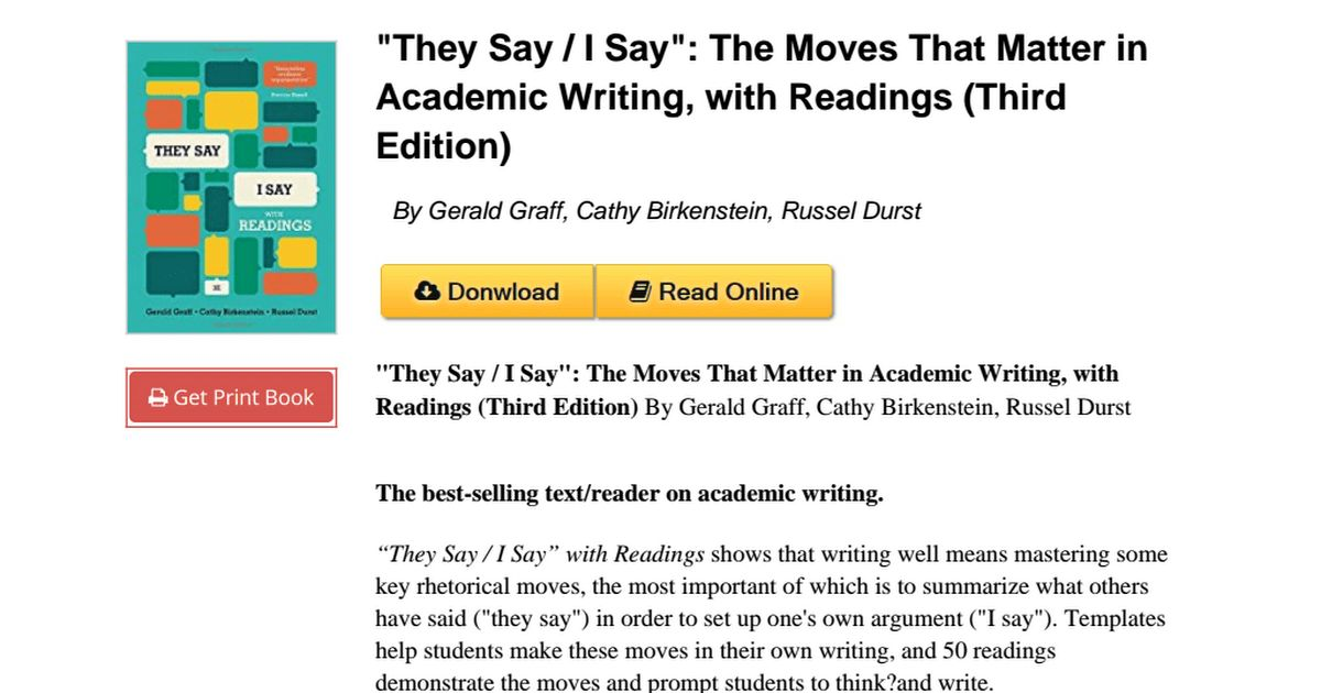 "RVNI]⋙""They Say _ I Say"": The Moves That Matter in Academic ..."