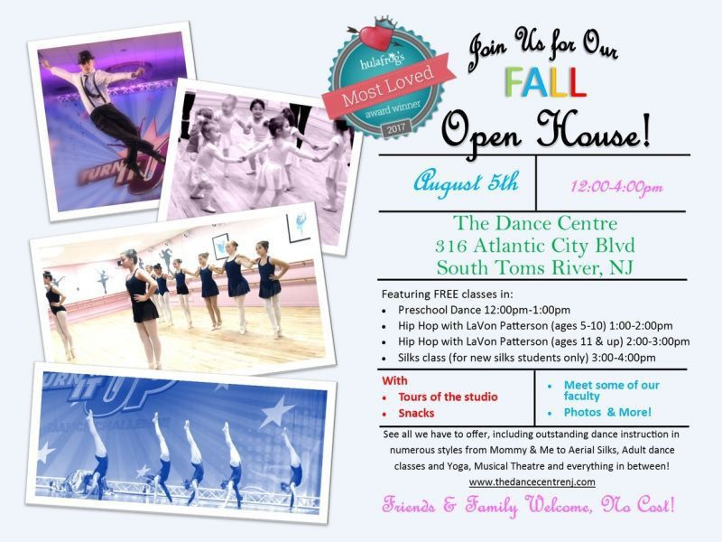 The Dance Centre Fall Open House- Free Dance Classes | Toms River ...