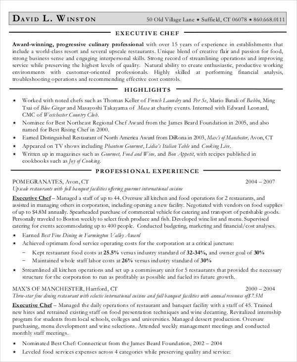 Executive Resume Templates - 27+ Free Word, PDF Documents Download ...