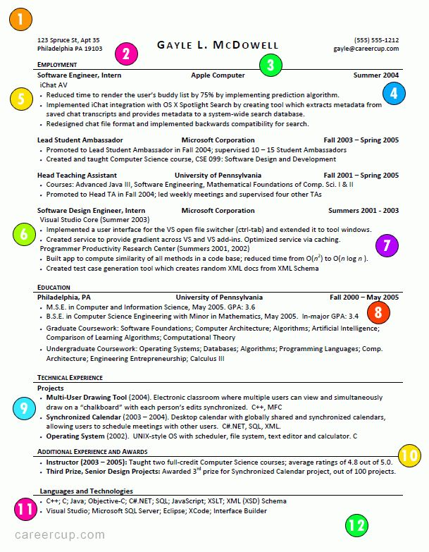 Successful Resume Examples