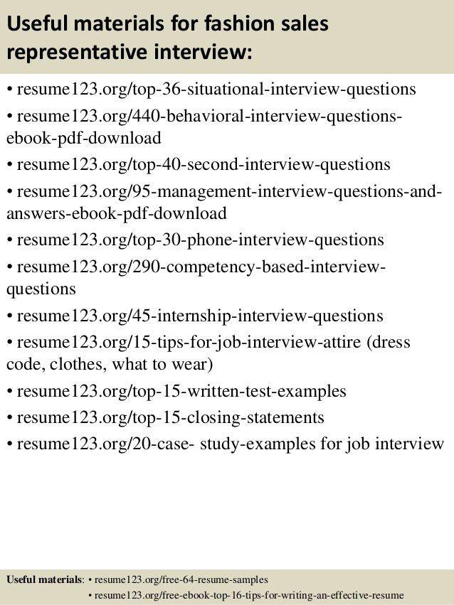 Sales representative resume exapmles