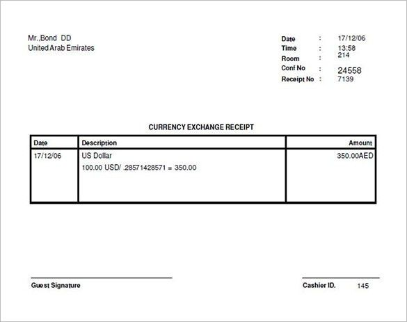 Money Receipt Template – 11+ Free Sample, Example, Format Download ...