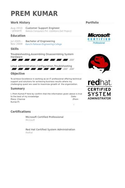 Download Customer Support Engineer Sample Resume ...