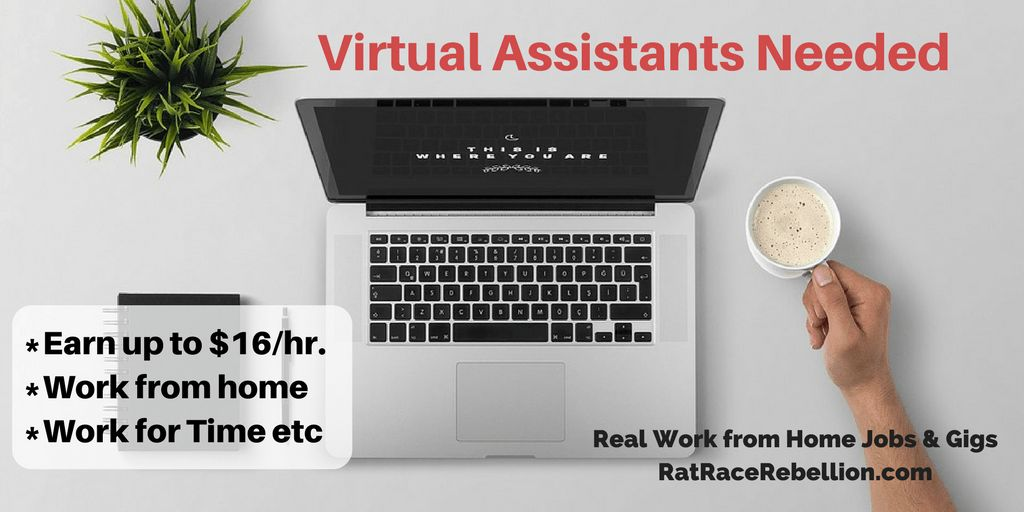 Virtual Assistant Archives - Real Work From Home Jobs by Rat Race ...