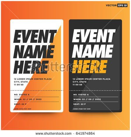 Event Ticket Template Venue Date Details Stock Vector 641974852 ...
