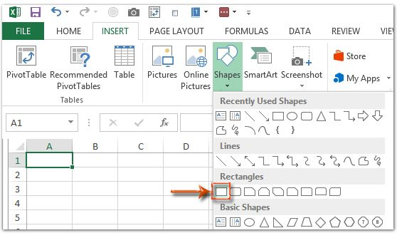 How to create grid paper/square template in Excel?