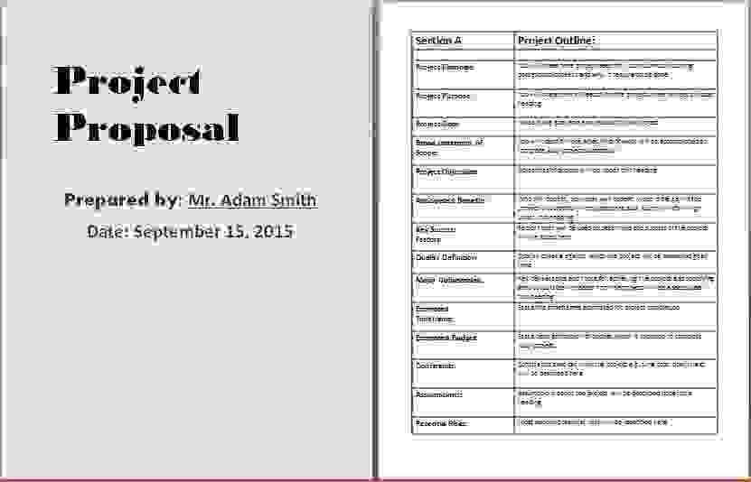7+ project proposal template word | Procedure Template Sample