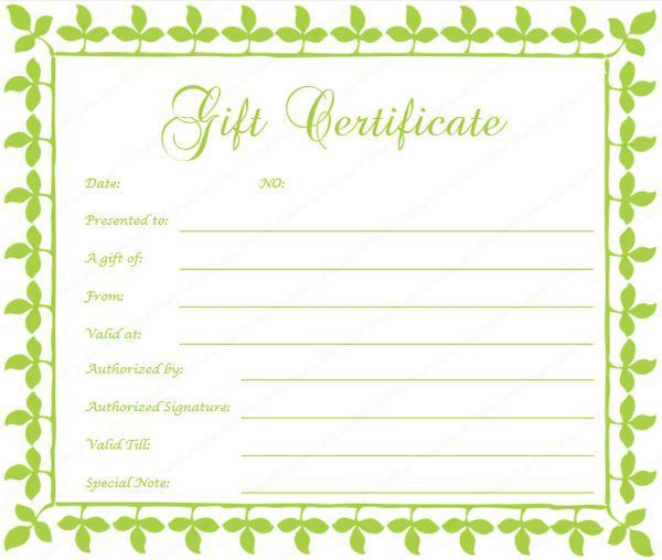275 best Beautiful Printable Gift Certificate Templates images on ...