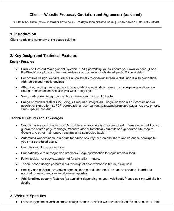 Web Design Proposal Template. Ecommerce Web Design Proposal ...
