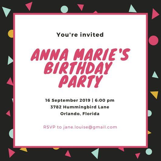 Party Invitation Templates - Canva