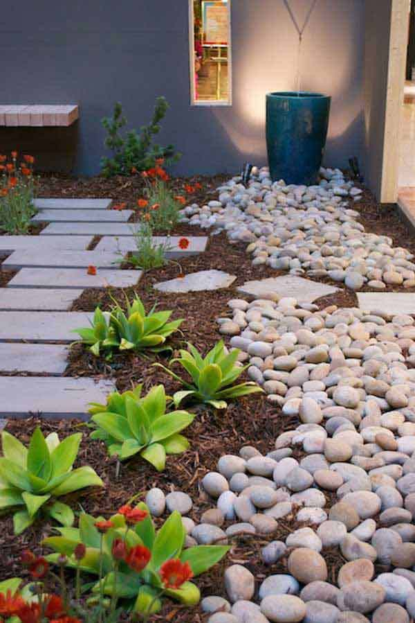 35+ Amazing Ideas Adding River Rocks To Your Home Design ...