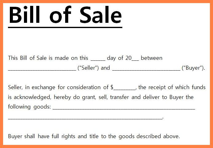 6+ basic bill of sale template | Bussines Proposal 2017